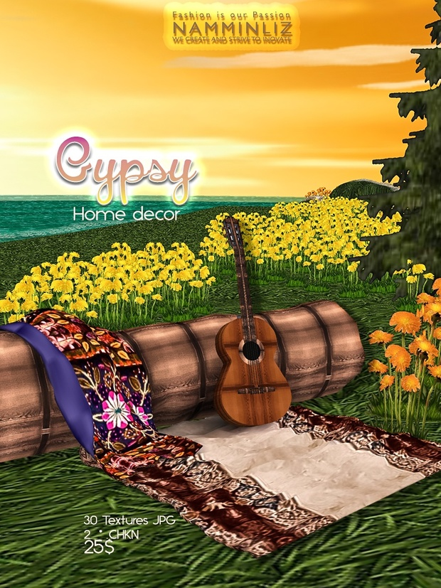 Gypsy Home decor 30 Textures JPG & 12*.CHKN