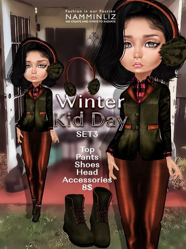 Winter Kid Day Full Set ( Pants + Shoes ) JPG textures NAMMINLIZ file sale