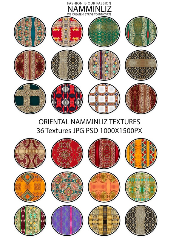 ORIENTAL 36 Textures V2 JPG 1000x1500px