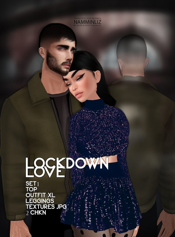 Lockdown Love SET1 Top & Outfit, Leggings XL 2 Textures JPG CHKN
