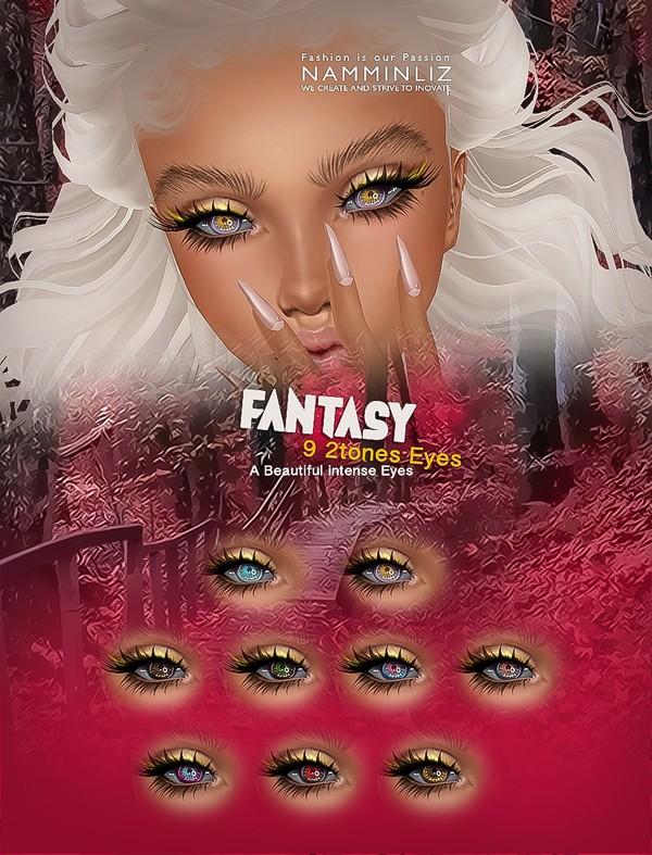 9 Fantasy 2 Tones Eyes PNG Texture