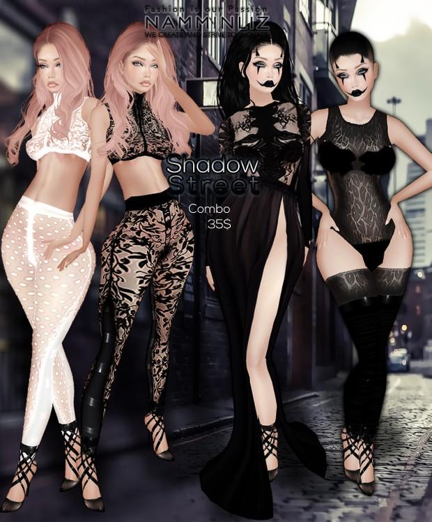 Shadow Street •Sis3d Pants + Mini Shorts + Top Bibi