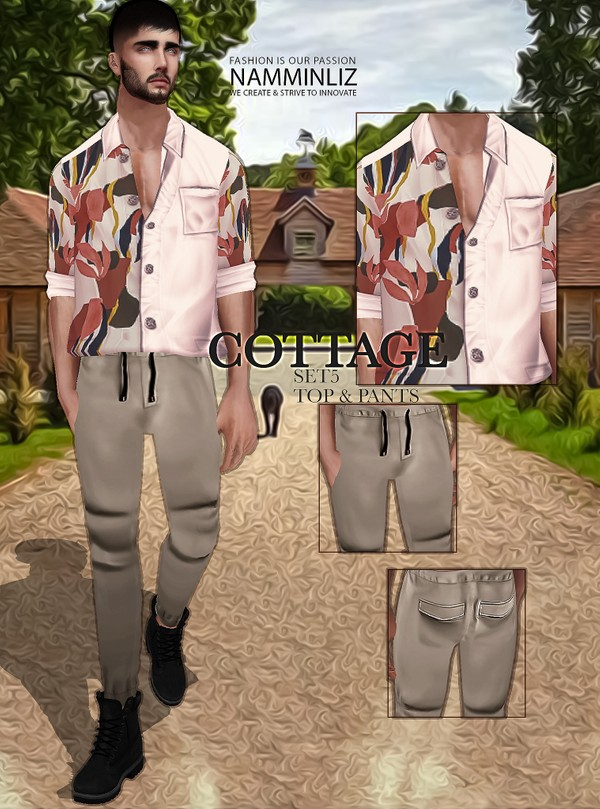 Cottage SET5 Textures JPG Top & Pants 2 CHKN