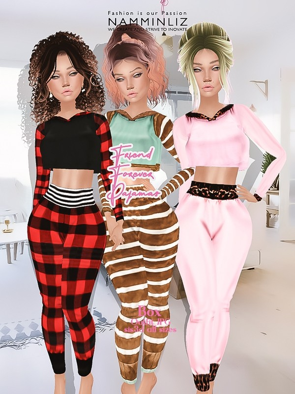 Friends Forever Pajamas Box 3 Outfits JPG sis3d all sizes