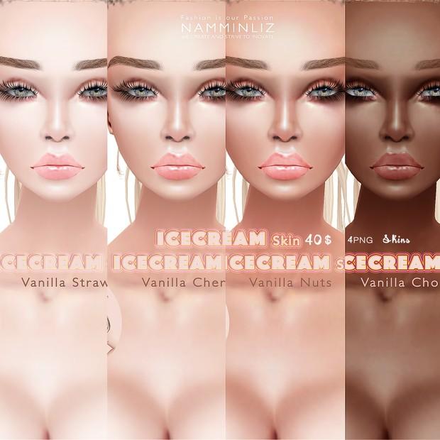 IceCream • Vanilla Strawberry Skin1