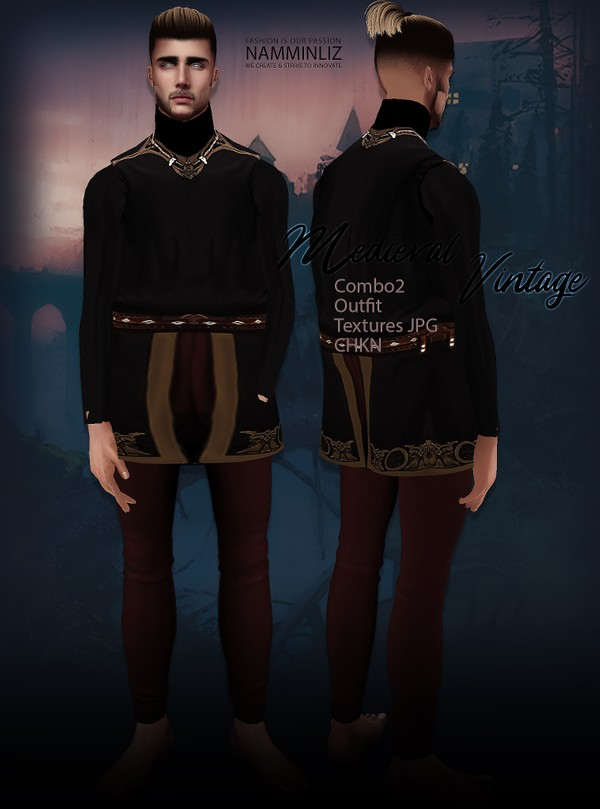Medieval Vintage combo2 Outfit Textures JPG CHKN