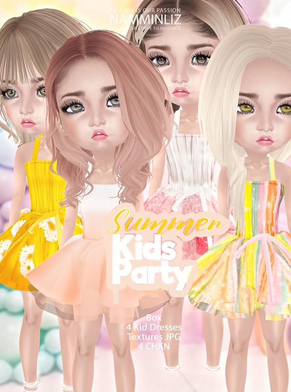 Summer Kids Party 4 Dresses Textures JPG 4 CHKN