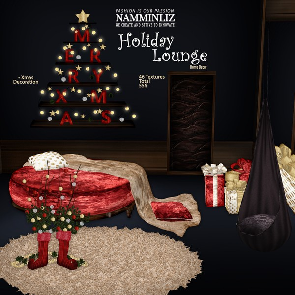 Holiday Lounge Home Decor