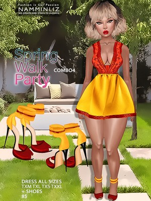 Spring Walk Party combo4 ( Dress AllSizes + shoes ) JPG TEXTURES imvu