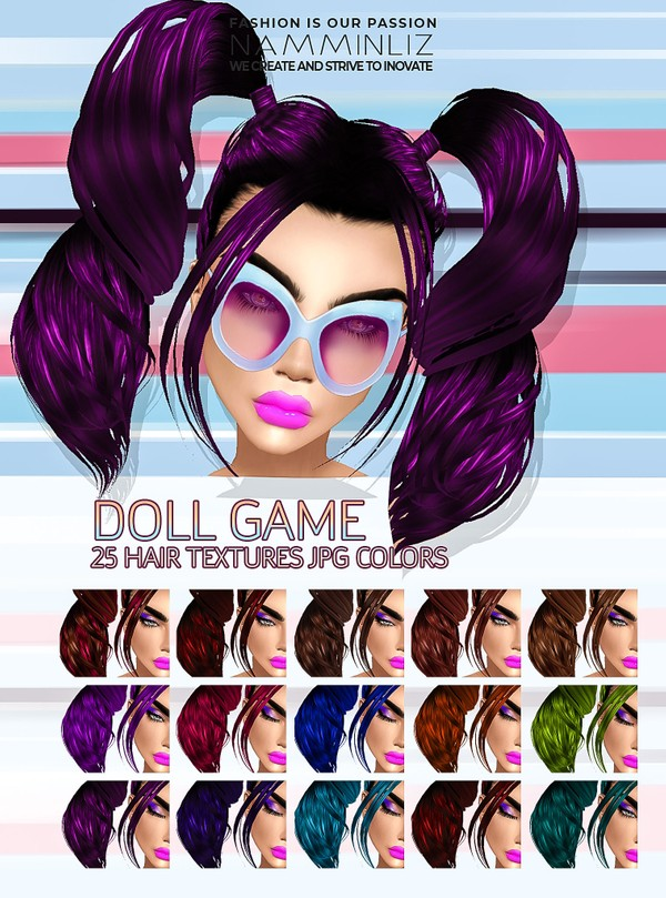 Doll Game 25 Textures JPG Hair colors
