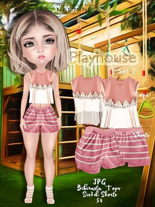 Playhouse Full Set 2 ( JPG Textures Top Bibirasta Shorts Sis3d )