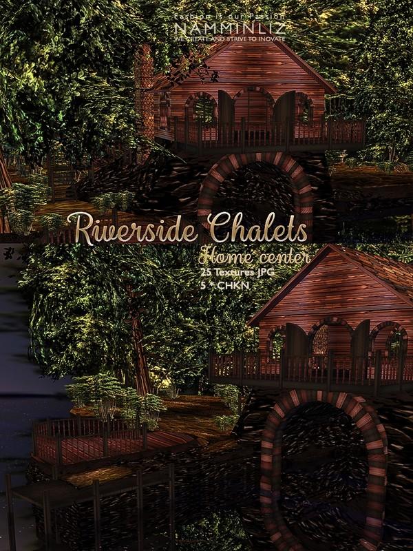 Riverside chalet 25 Textures JPG & 5*.CHKN
