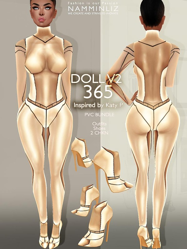 DOLL 365 PVC BUNDLE V2 (Outfits, Shoes) JPG Textures - 2 CHKN
