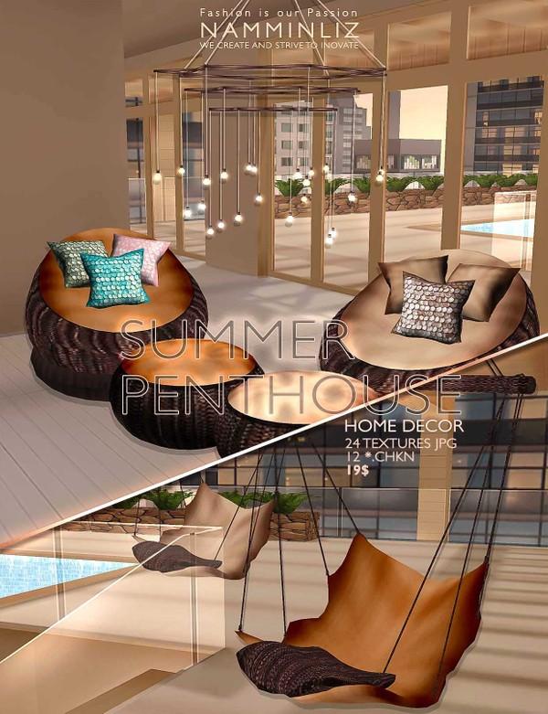 Summer Penthouse Home decor 24 Textures JPG & 12 *. CHKN ^  -  ^