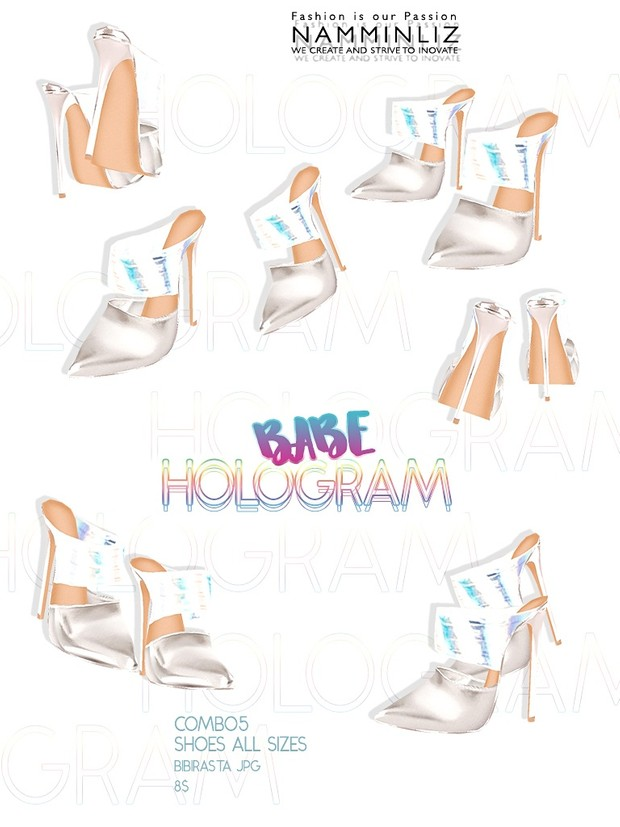 Hologram Babe Full combo (4 Outfits + Free Shoes All Sizes Bibirasta JPG )