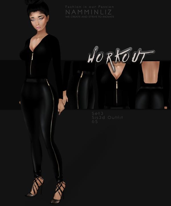 WorkOut Set3  Sis3d Outfit imvu