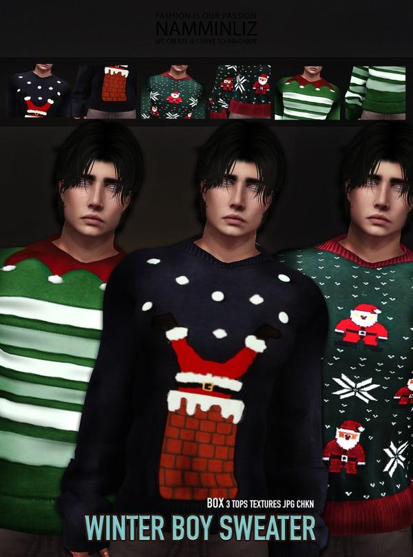 Winter Boy Sweater 3 Tops Textures JPG CHKN