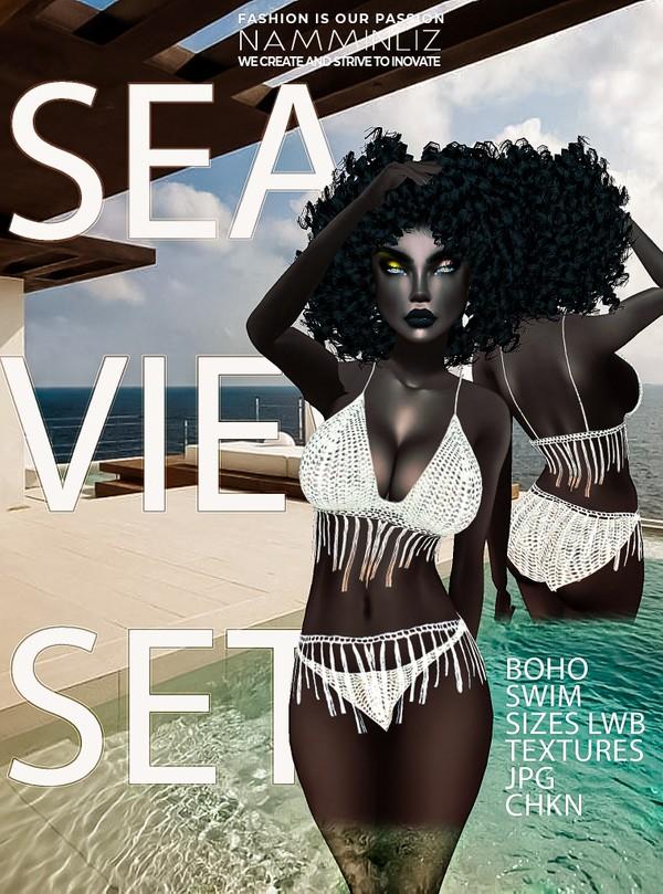 SEA VIEW SET- BOHO (Swim Sizes LWB Textures JPG CHKN)