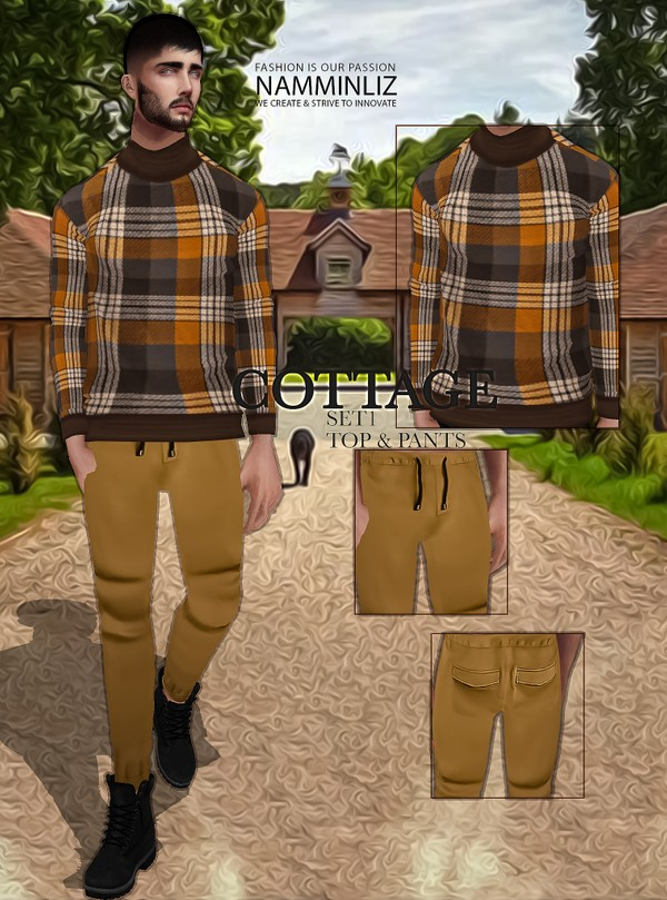 Cottage SET1 Textures JPG Top & Pants 2 CHKN