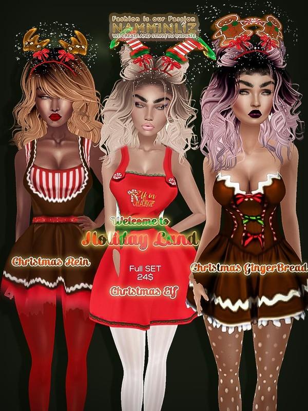 Holiday Land Full Set - Gingerbread Textures JPG CHKN