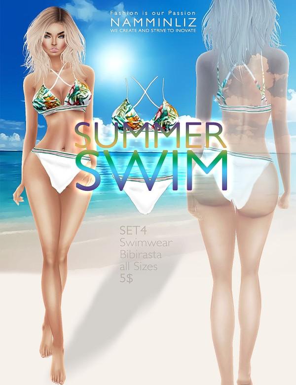 Summer swim SET4 imvu Bibirasta all sizes swimwear texture file sale