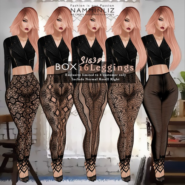 Box 16 Sis3d Leggings + Free Bibi Top • Include Normal Resell Right