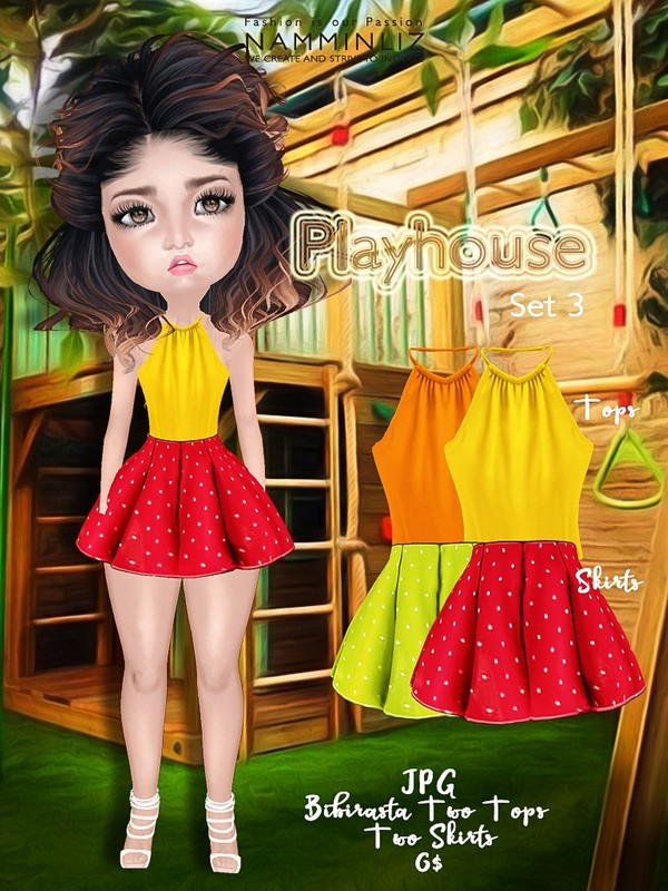 Playhouse Full Set 3 ( JPG Textures Top Bibirasta Skirts )