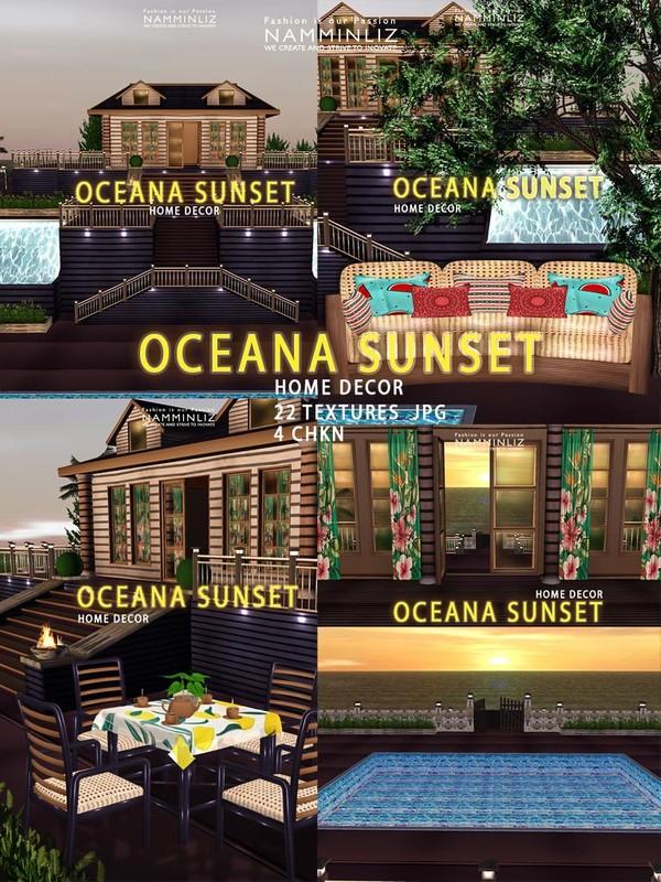 Oceana Sunset Home decor 22 Textures JPG 4 CHKN