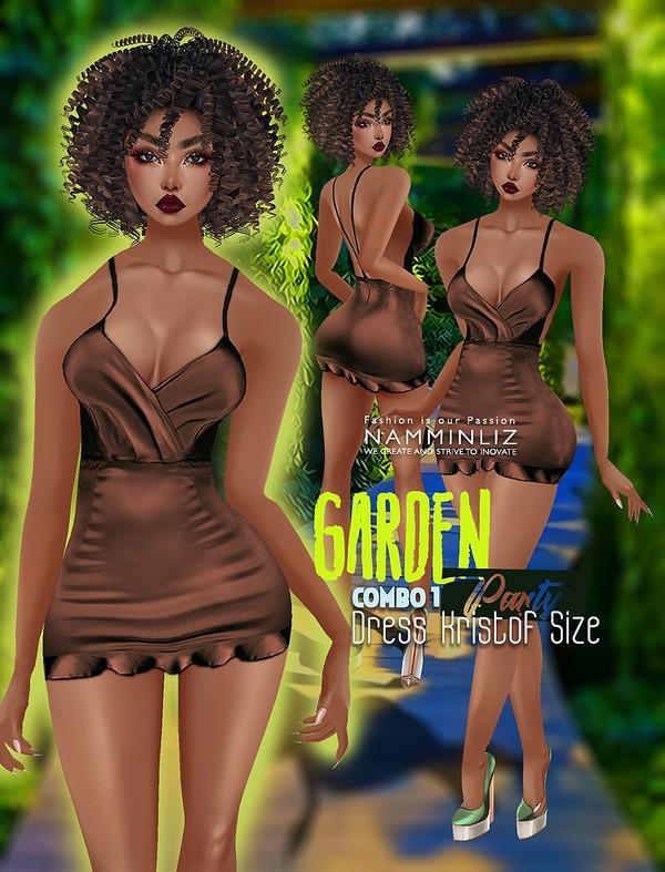 Garden Party Combo 1 Dress Kristof Textures PNG CHKN