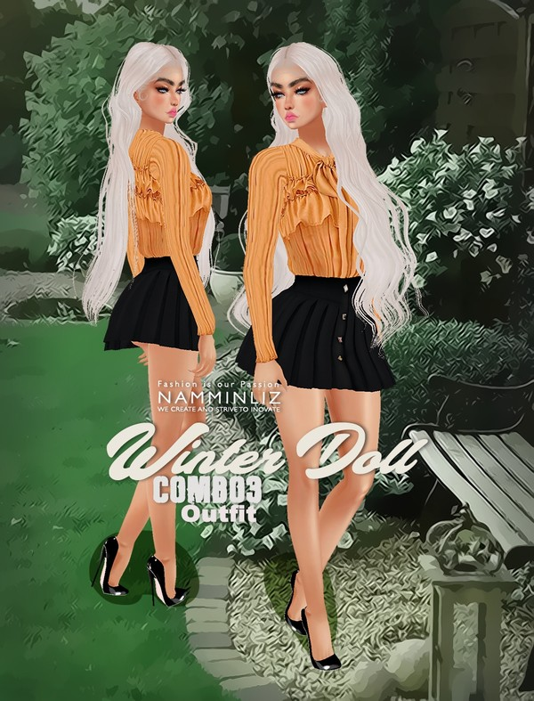 Winter Doll Combo3 Outfit Textures PNG CHKN