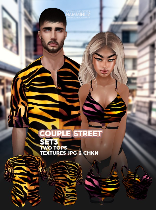 Couple Street SET3 Textures JPG 2 TOPS 2 CHKN