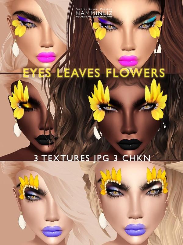 Eyes Leaves Flowers 3 PNG & JPG Textures CHKN