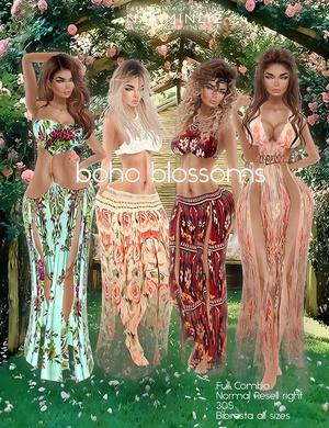Boho blossoms full combo all sizes bibirasta imvu texture PNG
