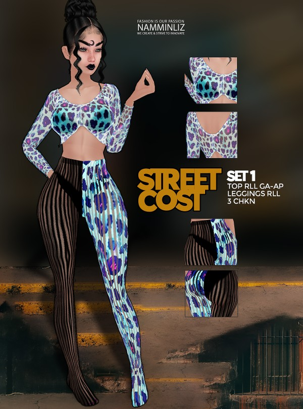 Street Cost SET1 Top AP-GA & Leggings RLL 3 CHKN