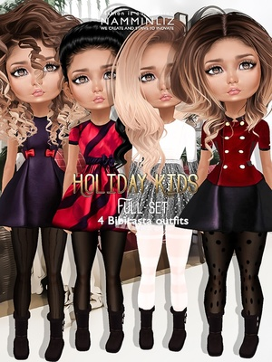 Holiday Kids Full Set imvu texture JPG bibirasta 4 outfits NAMMINLIZ filesale