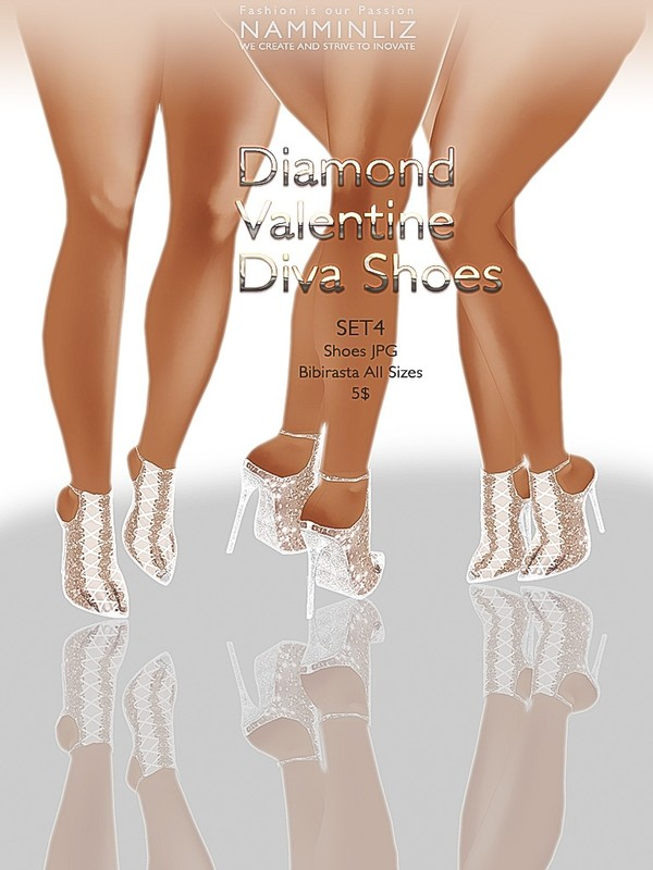 Diamond Valentine Diva Shoes SET 4 JPG bibirasta texture imvu