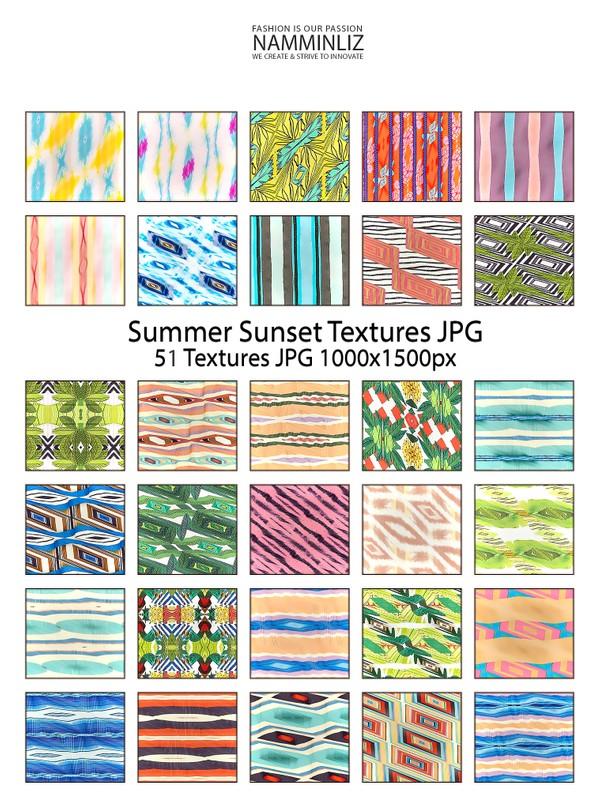 Summer Sunset 51 Textures JPG 1000x1500px