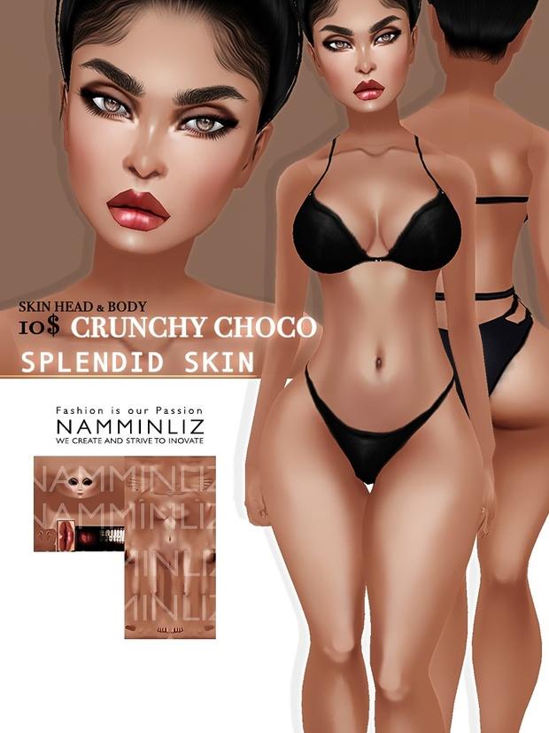 Crunchy Choco Splendid Skin imvu Texture JPG