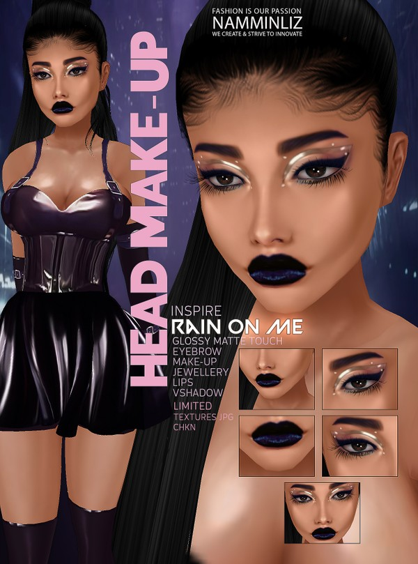 Rain on me Head Make-up V2 JPG CHKN GMT (Make-up,Lips,Eyebrow,Lips,Jewellery)Limited 3