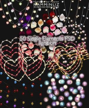 Add on items 50 Single elements 600x600 PSD