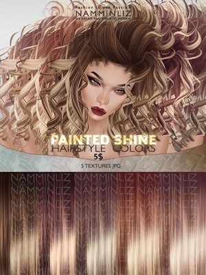Painted Shine Hair colors 5 Textures JPG