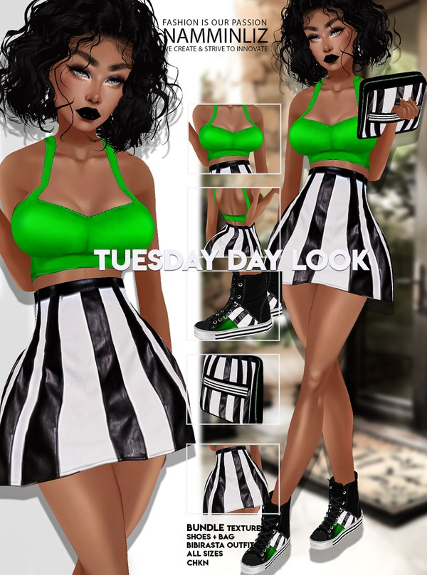 Tuesday Day look Outfit+Bag+Shoes JPG Textures CHKN