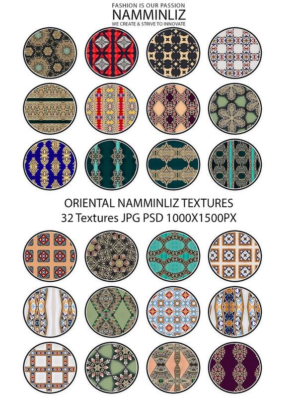 ORIENTAL 32 Textures V3 JPG 1000x1500px