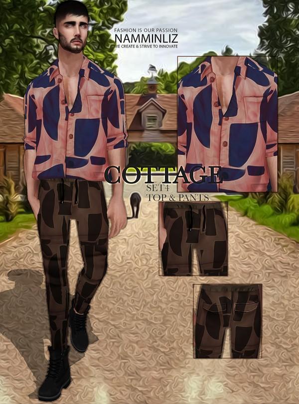 Cottage SET4 Textures JPG Top & Pants 2 CHKN