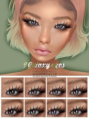 9 Galaxy Eyes PNG Textures NAMMINLIZ