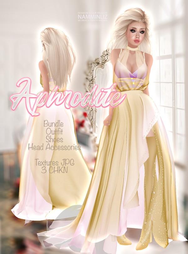 Aphrodite Bundle Outfit & Shoe, Head accessories Textures JPG 3 CHKN