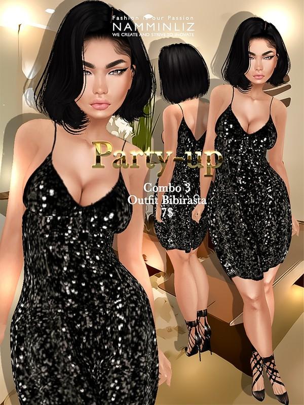 Party-up combo3 Bibirasta outfit imvu JPG textures NAMMINLIZ filesale