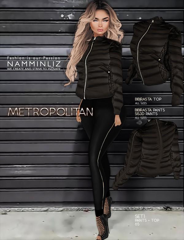 Metropolitan SET1 imvu textures bibirasta Top & Pants Sis3d