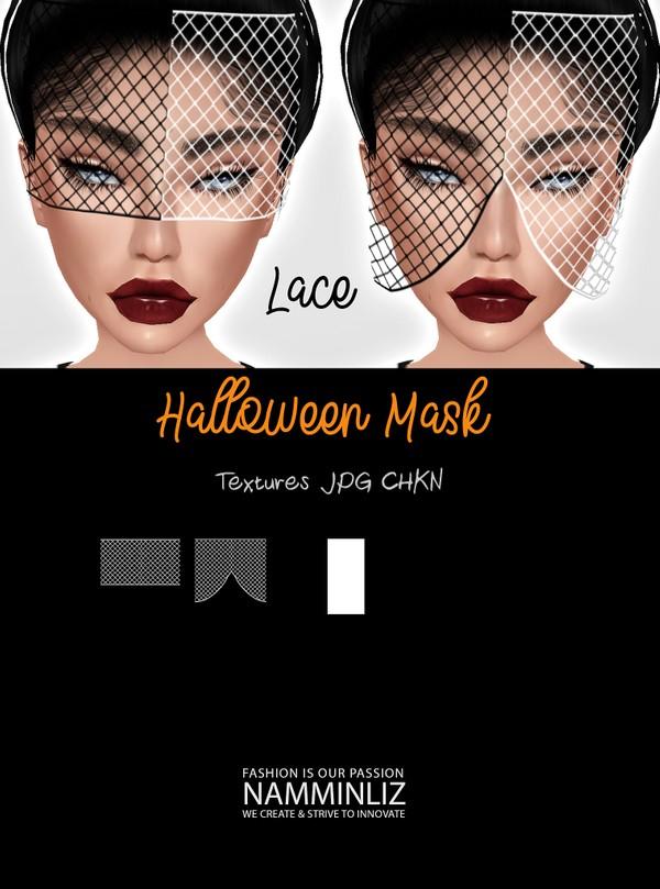 Halloween Mask Lace Textures JPG 2 CHKN
