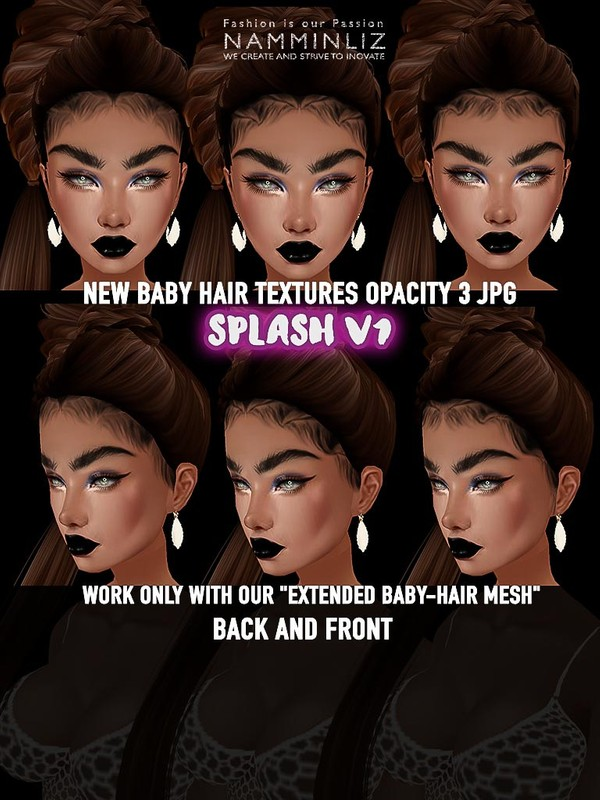 Splash v1 New Baby Hair Textures Opacity 3 JPG only
